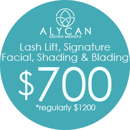 Lash Lift, Signature Facial, Shading & Blading $700 *Regularly $1200