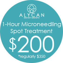 1-Hour Microneedling Spot Treatment $200  *Regularly $350