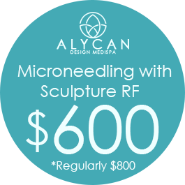 Microneedling With Sculpture RF  $600, Regularly $800
